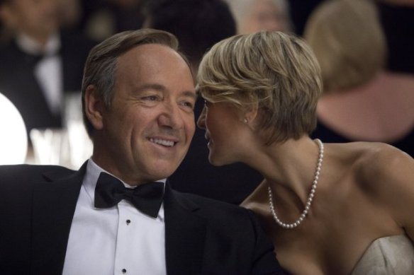 Kevin Spacey and Robin Wright Still